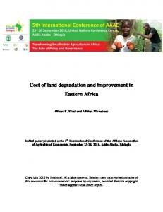 Cost of land degradation and improvement in Eastern Africa