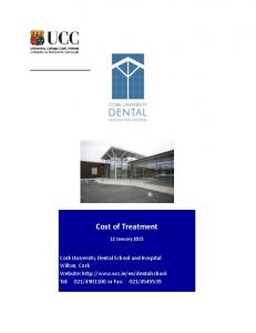 Cost of Treatment. Cost of Treatment