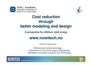 Cost reduction through better modeling and design