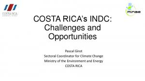 COSTA RICA s INDC: Challenges and Opportunities