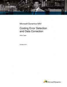 Costing Error Detection and Data Correction