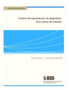 Costos de exportación en Argentina. Dos casos de estudio
