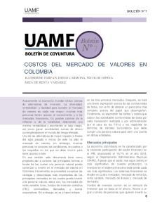 COSTOS DEL MERCADO DE VALORES EN COLOMBIA