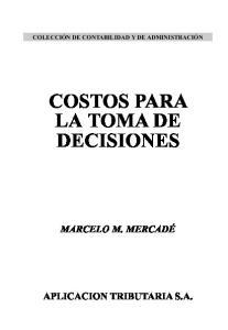 COSTOS PARA LA TOMA DE DECISIONES