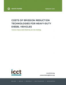 COSTS OF EMISSION REDUCTION TECHNOLOGIES FOR HEAVY-DUTY DIESEL VEHICLES