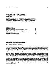 COSTUME NEWS 2005:1 April 1, 2005