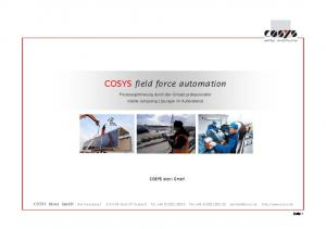 COSYS field force automation