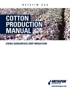 COTTON PRODUCTION MANUAL