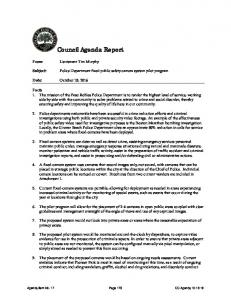 Council Agenda Report