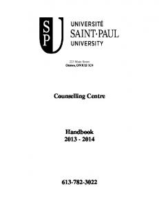 Counselling Centre. Handbook