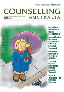 COUNSELLING WINTER AUSTRALIA. Volume 8 Number 2 Winter 2008