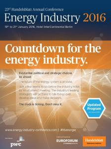 Countdown for the energy industry