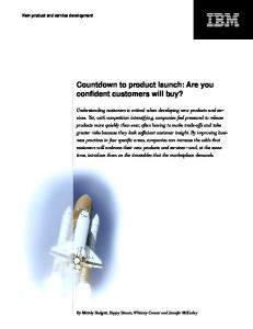 Countdown to product launch: Are you confident customers will buy?