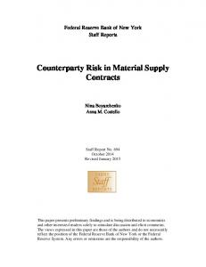 Counterparty Risk in Material Supply Contracts