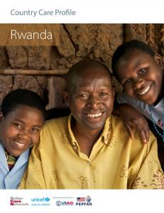 Country Care Profile. Rwanda. with financial support from. Country Care Profile: Rwanda 1