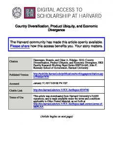Country Diversification, Product Ubiquity, and Economic Divergence