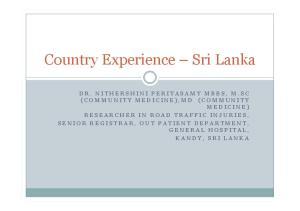 Country Experience Sri Lanka