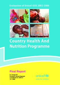 Country Health And Nutrition Programme