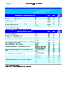 Country Health System Fact Sheet 2006 Liberia