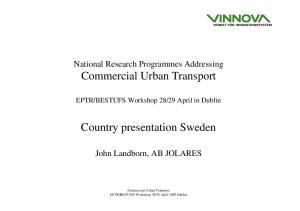 Country presentation Sweden