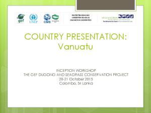 COUNTRY PRESENTATION: Vanuatu