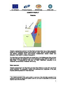 COUNTRY PROFILE 1. Palestine