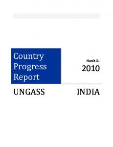 Country Progress Report. March 31