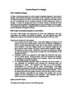 Country Report 11: Senegal