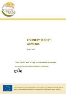 COUNTRY REPORT: ARMENIA