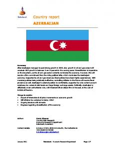 Country report AZERBAIJAN