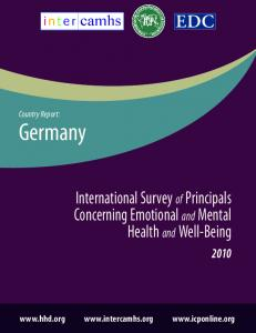 Country Report: Germany. International Survey of Principals Concerning Emotional and Mental Health and Well-Being
