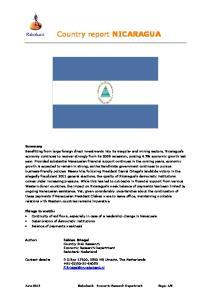 Country report NICARAGUA