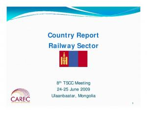 Country Report Railway Sector