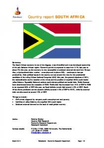 Country report SOUTH AFRICA
