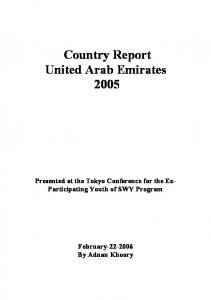Country Report United Arab Emirates 2005