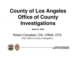 County of Los Angeles Office of County Investigations