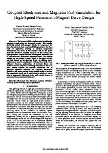Coupled Electronic and Magnetic Fast Simulation for High-Speed Permanent-Magnet Drive Design