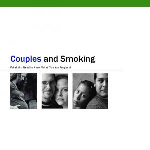 Couples and Smoking. What You Need to Know When You are Pregnant