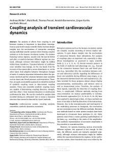 Coupling analysis of transient cardiovascular dynamics