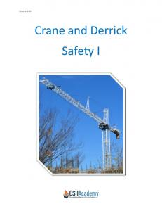 Course 820. Crane and Derrick Safety I