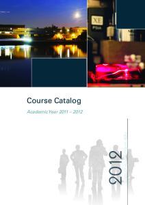 Course Catalog. Academic Year