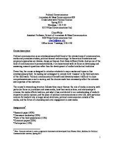 Course description. Assignments 1