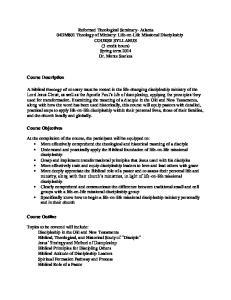 Course Description. Course Objectives