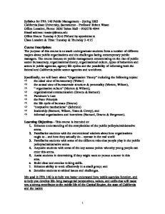 Course Description: Learning Objectives