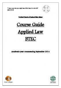 Course Guide Applied Law BTEC