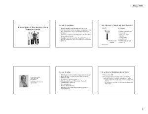 Course Objectives. Course Outline