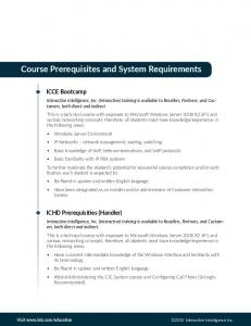 Course Prerequisites and System Requirements