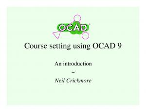 Course setting using OCAD 9. An introduction ~ Neil Crickmore