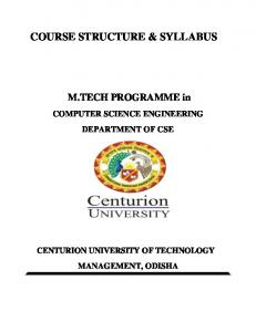 COURSE STRUCTURE & SYLLABUS