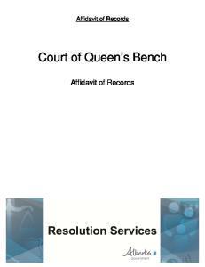 Court of Queen s Bench